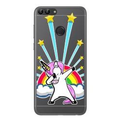 Funda Gel Transparente para Huawei P Smart Diseño Unicornio Dibujos