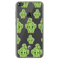 Funda Gel Transparente para Huawei P8 Lite 2017 Diseño Cactus Dibujos