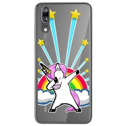 Funda Gel Transparente para Huawei P20 Diseño Unicornio Dibujos
