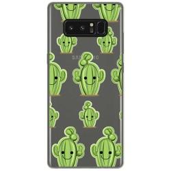 Funda Gel Transparente para Samsung Galaxy Note 8 Diseño Cactus Dibujos
