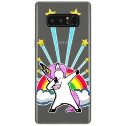 Funda Gel Transparente para Samsung Galaxy Note 8 Diseño Unicornio Dibujos