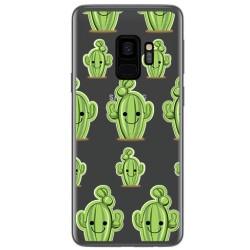 Funda Gel Transparente para Samsung Galaxy S9 Diseño Cactus Dibujos