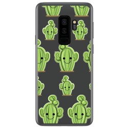 Funda Gel Transparente para Samsung Galaxy S9 Plus Diseño Cactus Dibujos