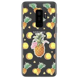 Funda Gel Transparente para Samsung Galaxy S9 Plus Diseño Piña Dibujos