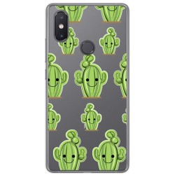Funda Gel Transparente para Xiaomi Mi 8 Se Diseño Cactus Dibujos