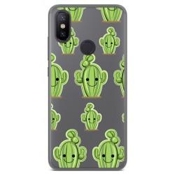 Funda Gel Transparente para Xiaomi Mi 6X / Mi A2 Diseño Cactus Dibujos