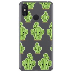 Funda Gel Transparente para Xiaomi Mi Max 3 Diseño Cactus Dibujos