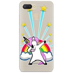 Funda Gel Transparente para Xiaomi Redmi 6 Diseño Unicornio Dibujos