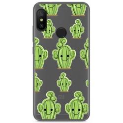 Funda Gel Transparente para Xiaomi Redmi 6 Pro / Mi A2 Lite Diseño Cactus Dibujos