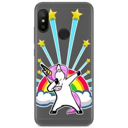 Funda Gel Transparente para Xiaomi Redmi 6 Pro / Mi A2 Lite Diseño Unicornio Dibujos