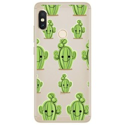 Funda Gel Transparente para Xiaomi Redmi Note 5 / Note 5 Pro Diseño Cactus Dibujos