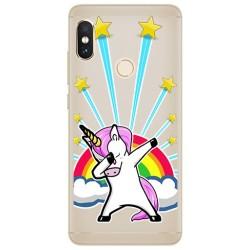 Funda Gel Transparente para Xiaomi Redmi Note 5 / Note 5 Pro Diseño Unicornio Dibujos