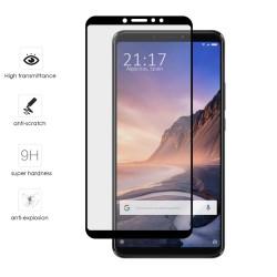 Protector Cristal Templado Frontal Completo Negro para Xiaomi Mi Max 3 Vidrio