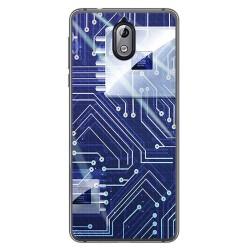 Funda Gel Tpu para Nokia 3.1 (2018) Diseño Circuito Dibujos