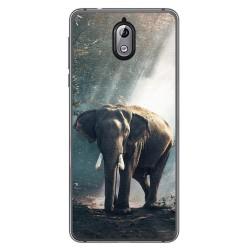 Funda Gel Tpu para Nokia 3.1 (2018) Diseño Elefante Dibujos