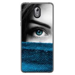 Funda Gel Tpu para Nokia 3.1 (2018) Diseño Ojo Dibujos