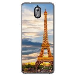 Funda Gel Tpu para Nokia 3.1 (2018) Diseño Paris Dibujos