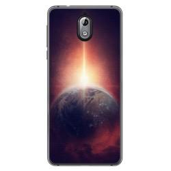 Funda Gel Tpu para Nokia 3.1 (2018) Diseño Tierra Dibujos