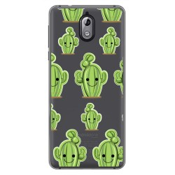 Funda Gel Transparente para Nokia 3.1 (2018) Diseño Cactus Dibujos