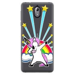 Funda Gel Transparente para Nokia 3.1 (2018) Diseño Unicornio Dibujos