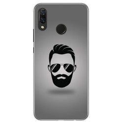 Funda Gel Tpu para Huawei P Smart Plus Diseño Barba Dibujos