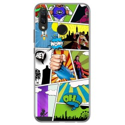 Funda Gel Tpu para Huawei P Smart Plus Diseño Comic Dibujos