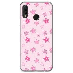 Funda Gel Tpu para Huawei P Smart Plus Diseño Flores Dibujos