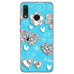 Funda Gel Tpu para Huawei P Smart Plus Diseño Mariposas Dibujos