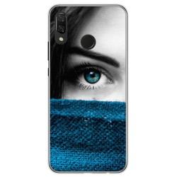 Funda Gel Tpu para Huawei P Smart Plus Diseño Ojo Dibujos