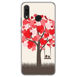 Funda Gel Tpu para Huawei P Smart Plus Diseño Pajaritos Dibujos