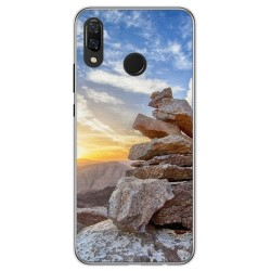 Funda Gel Tpu para Huawei P Smart Plus Diseño Sunset Dibujos