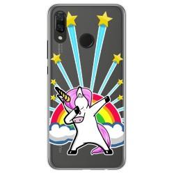 Funda Gel Transparente para Huawei P Smart Plus Diseño Unicornio Dibujos
