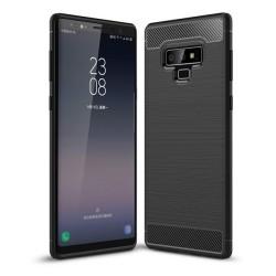 Funda Gel Tpu Tipo Carbon Negra para Samsung Galaxy Note 9