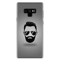 Funda Gel Tpu para Samsung Galaxy Note 9 Diseño Barba Dibujos