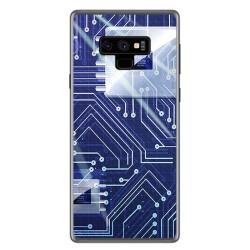 Funda Gel Tpu para Samsung Galaxy Note 9 Diseño Circuito Dibujos