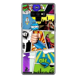Funda Gel Tpu para Samsung Galaxy Note 9 Diseño Comic Dibujos