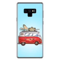 Funda Gel Tpu para Samsung Galaxy Note 9 Diseño Furgoneta Dibujos