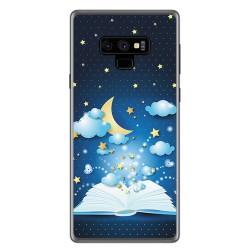 Funda Gel Tpu para Samsung Galaxy Note 9 Diseño Libro Cuentos Dibujos