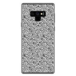 Funda Gel Tpu para Samsung Galaxy Note 9 Diseño Letras Dibujos