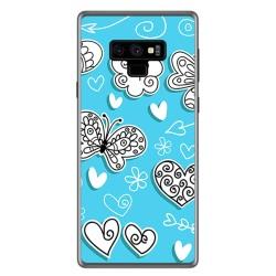 Funda Gel Tpu para Samsung Galaxy Note 9 Diseño Mariposas Dibujos