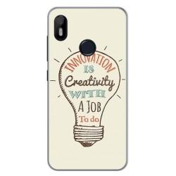 Funda Gel Tpu para Bq Aquaris C Diseño Creativity Dibujos