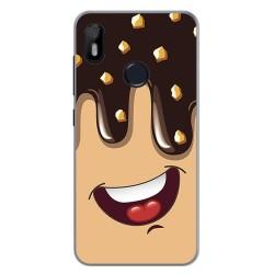 Funda Gel Tpu para Bq Aquaris C Diseño Helado Chocolate Dibujos