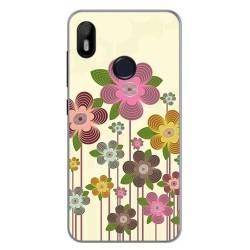 Funda Gel Tpu para Bq Aquaris C Diseño Primavera En Flor Dibujos