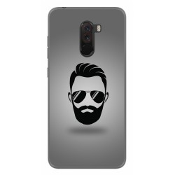 Funda Gel Tpu para Xiaomi Pocophone F1 Diseño Barba Dibujos