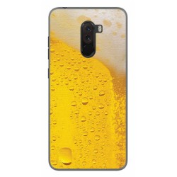 Funda Gel Tpu para Xiaomi Pocophone F1 Diseño Cerveza Dibujos