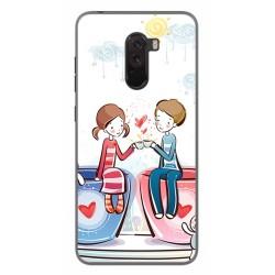Funda Gel Tpu para Xiaomi Pocophone F1 Diseño Cafe Dibujos