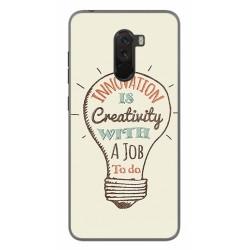 Funda Gel Tpu para Xiaomi Pocophone F1 Diseño Creativity Dibujos