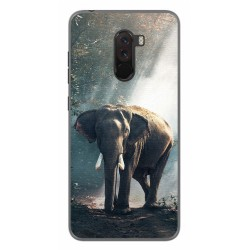 Funda Gel Tpu para Xiaomi Pocophone F1 Diseño Elefante Dibujos