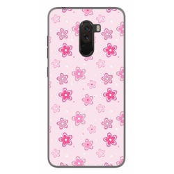 Funda Gel Tpu para Xiaomi Pocophone F1 Diseño Flores Dibujos