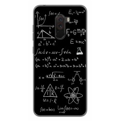 Funda Gel Tpu para Xiaomi Pocophone F1 Diseño Formulas Dibujos